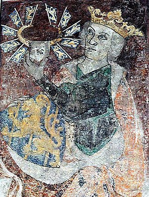 Birger, King of Sweden - Birger's memorial portrait at St. Bendt's Church, Ringsted