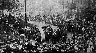 1907 Birmingham Tramway accident - Image: Birmingham 1907 tram crash 1