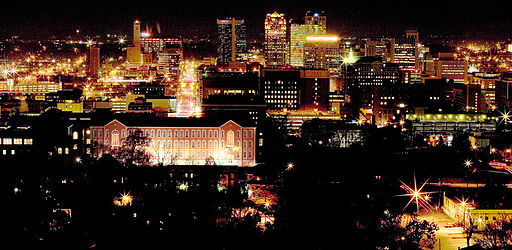 Birmingham Alabama Night Skyline