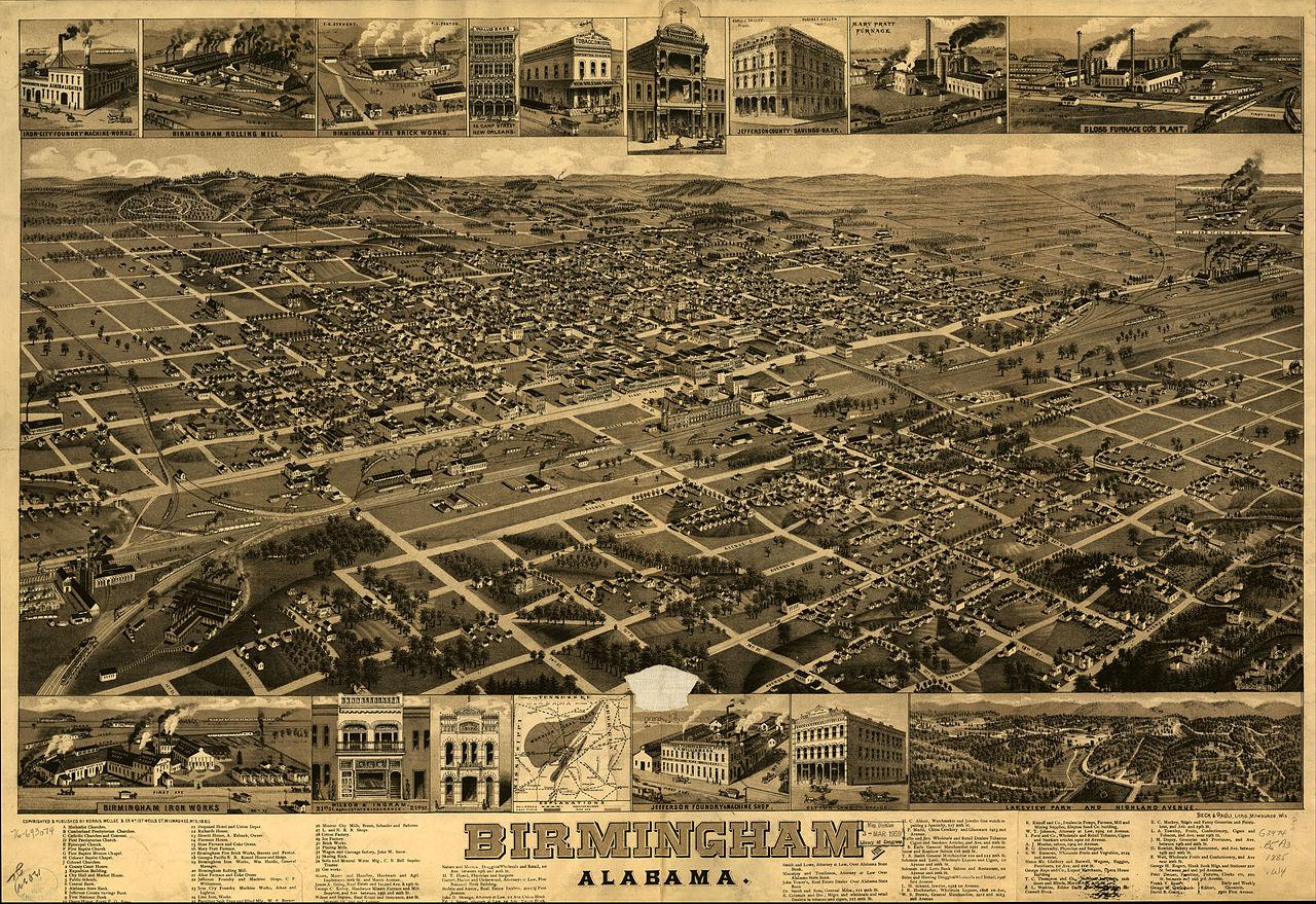 File:Birmingham Alabama map 1885.jpg - Wikimedia Commons