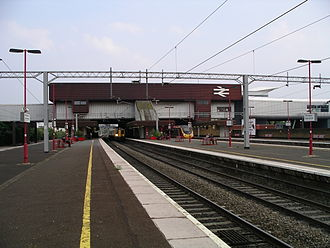 Birmingham International railway station - The station at platform level.