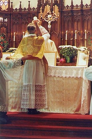 Richard Williamson (bishop) - Williamson celebrating Mass in 1991