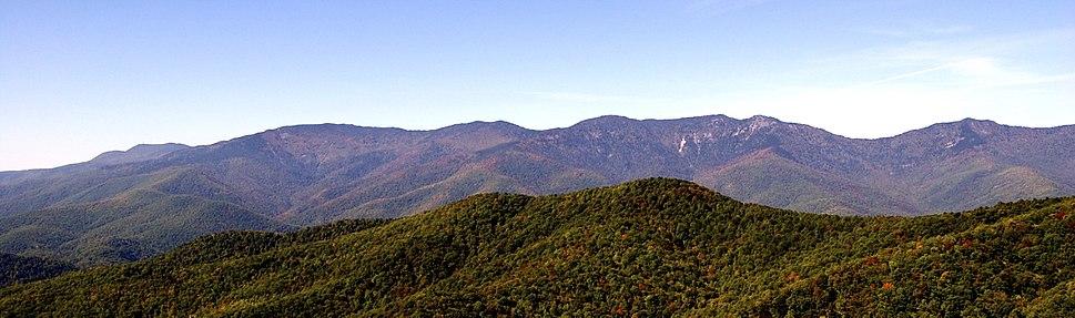 Black Mountain Range Panorama