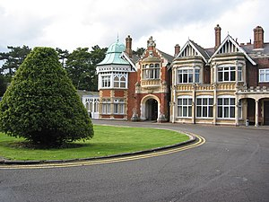 Bletchley - The main house at Bletchley Park