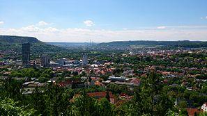Blick auf Jena-City vom Landgrafen
