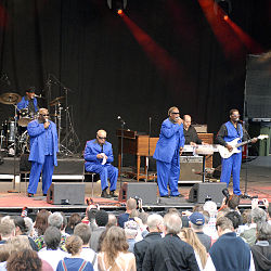 Blind Boys of Alabama på Skeppsholmen i juli 2009