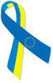 Blue and yellow ribbon Euromaidan.png