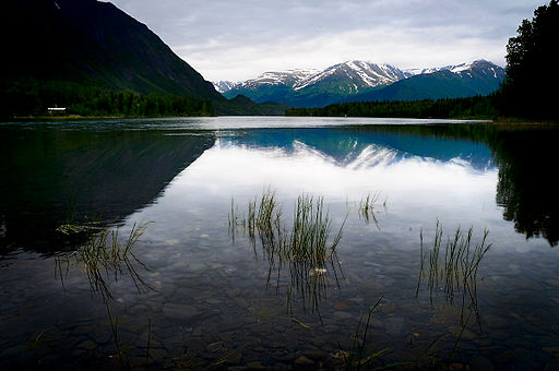 Blue calm on Kenai Lake