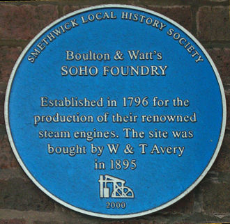 Soho Foundry - Blue plaque at the main gate