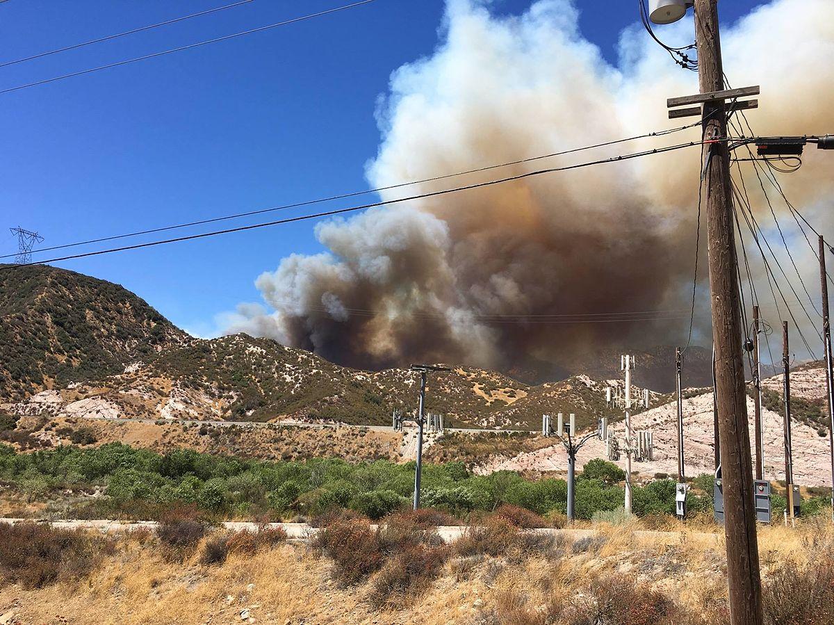 Cajon Pass Fire Map.Blue Cut Fire Wikipedia