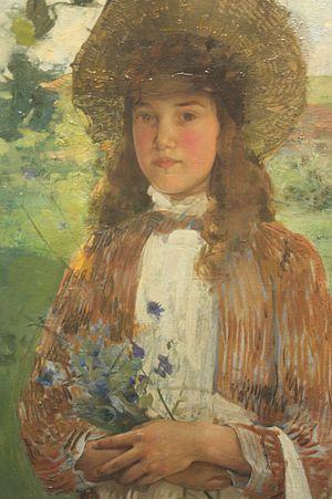 Edward Arthur Walton - Image: Bluette by Edward Arthur Walton, 1891, NGS