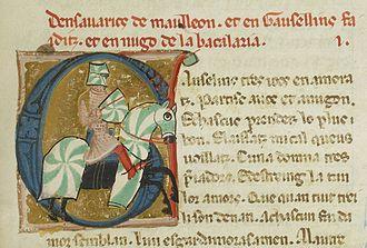 Torneyamen - Image: Bn F ms. 854 fol. 152 Savaric de Mauléon (1)