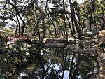 Boat and Kanrankyo Bridge in Shukkei Garden 2.jpg