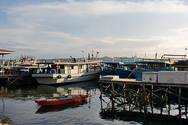 Boats at Kudat Harbour.JPG