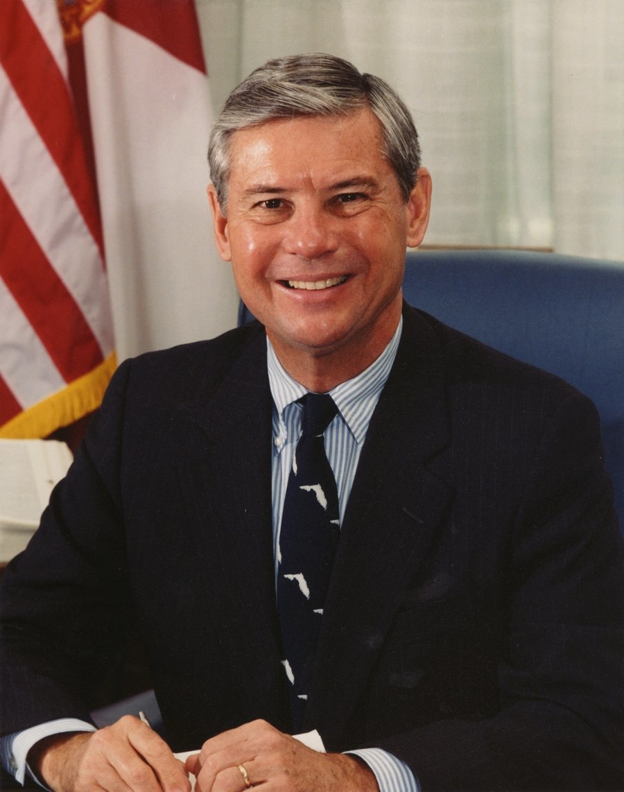 Bob Graham, official Senate photo portrait, color