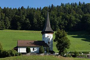 Boltigen - Boltigen village church