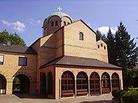 Bonn Griechisch-Orthodoxe Kathedrale Agia Trias Front.JPG