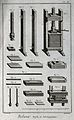 Bookbinding; large and small book presses, and their constit Wellcome V0023791EL.jpg