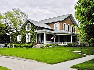 National Register of Historic Places listings in Jones County, Iowa - Image: Booth House NRHP 13000067 Jones County, IA