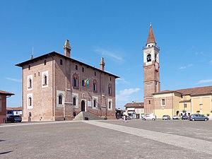 Borghetto Lodigiano - Image: Borghetto Lodigiano piazzale Carlo Alberto dalla Chiesa
