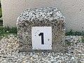 Borne Hectométrique 1 Grande Rue Montrevel Bresse 2.jpg