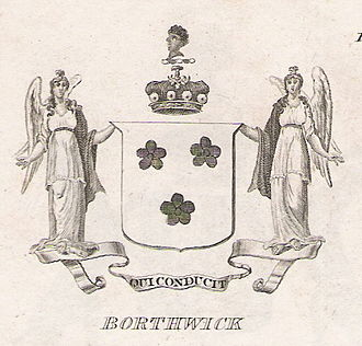 Lord Borthwick - Arms as shown in Brown's Peerage of Scotland, 1834