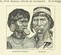 Botocudo woman and man from George Bettany The Worlds Inhabitants.jpg