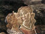 Botticelli, Sandro - Three Temptations of Christ, detail of two women - 1481-1482.jpg