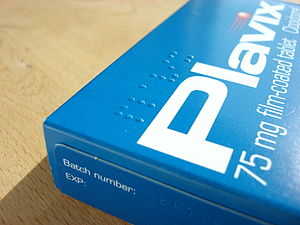 Braille on a box of tablets