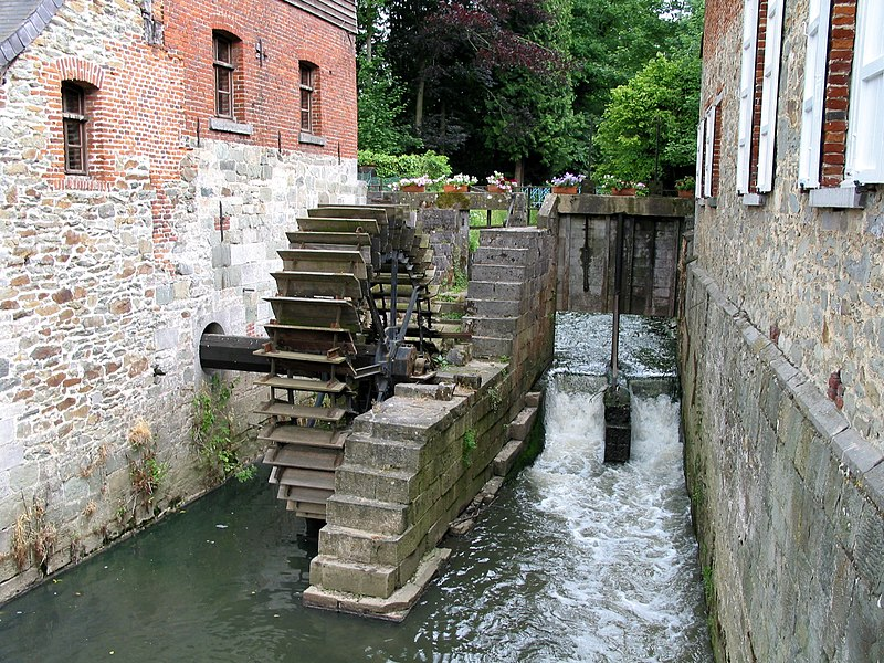 Braine-le-Château   (Belgium), the old community watermill on the Hain river.