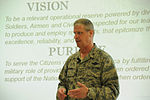 Brig. Gen. Mark E. Bartman, speaks to employers of Ohio National Guardsmen at the 180th Fighter Wing.jpg