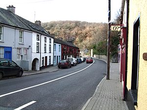 Glanmire - The R639 road through Glanmire village.