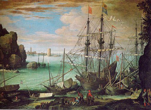 Bril, Paul - Kustenlandschaft mit Hafen, c. 1610