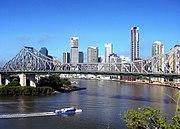 A view of the Brisbane CBD and Story Bridge