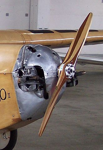 Flat twin engine - Bristol Cherub II installed in aircraft