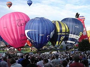 English: Bristol Balloon Fiesta August 2004 Sa...