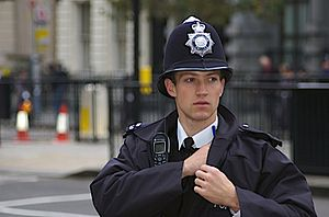 My name is Will or Policeman as (arresting) model
