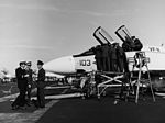 British officers inspect F-4B of VF-11 on USS Forrestal (CVA-59) in January 1970.jpg