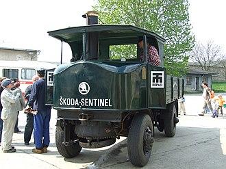 "Sentinel boiler - Škoda-Sentinel ""Super Sentinel"" steam waggon"