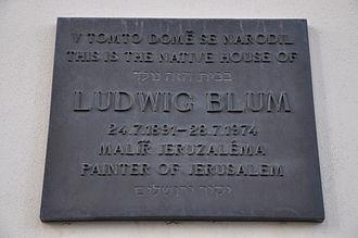 Ludwig Blum - Ludwig Blum Memorial plaque in Brno-Líšeň