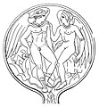 Bronze mirror from Tarquinia with Turms and Goddess.jpg