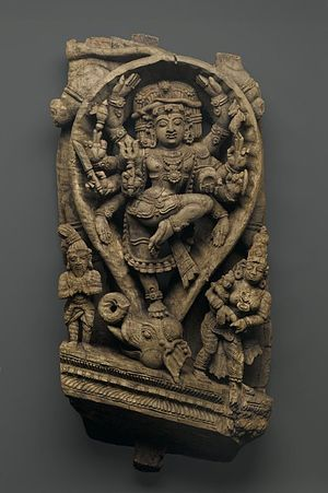 Gajasurasamhara - A rare instance where iconographical treatises are fully followed