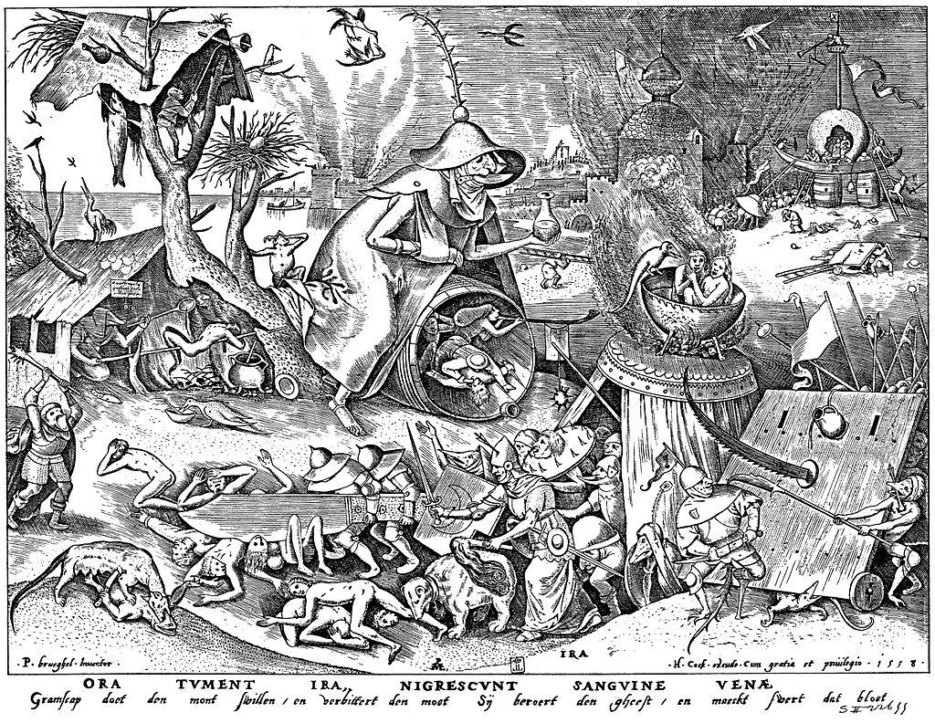 Brueghel - Sieben Laster - Ira