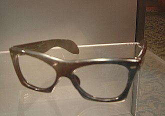 Buddy Holly Center - Buddy Holly's horn-rimmed glasses on display