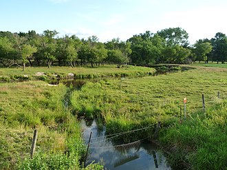 Buffalo River (Wisconsin) - Upper reaches, just west of Osseo