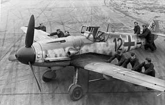 "Jagdgeschwader 2 - Messerschmitt Bf 109 G-6 ""Black 12"" with R6 gun package of Jagdgeschwader 2 (JG 2), September 1943"