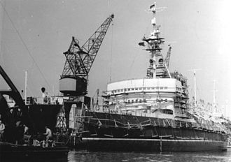 Krassin (1916 icebreaker) - Reconstruction of the Krassin in East Germany, 1959.