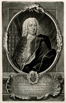 Burchard David Mauchart. Mezzotint by J. J. Haid after W. D. Wellcome V0003921.jpg