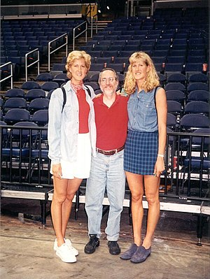 Heather Burge - Heidi Burge (L) and Heather Burge (R) with fan (6')