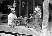Chess players photographed in Burma by Max Henry Ferrars
